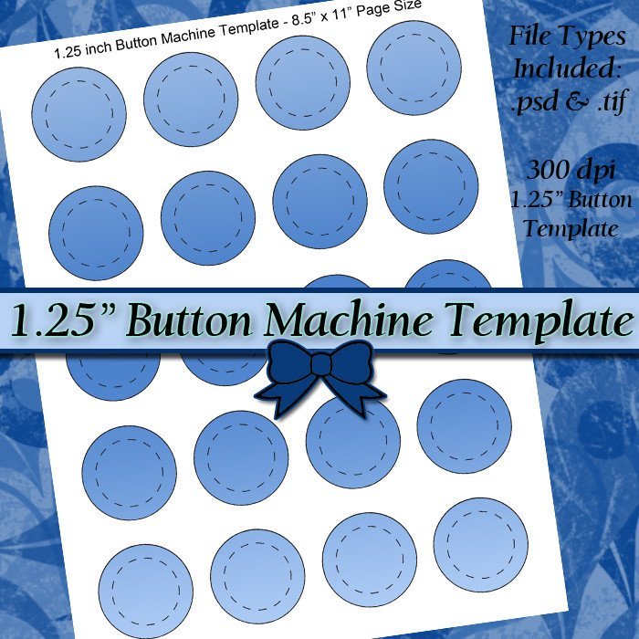 1 25 Inch button Template 1 25 Inch button Machine Digital Collage Sheet Template