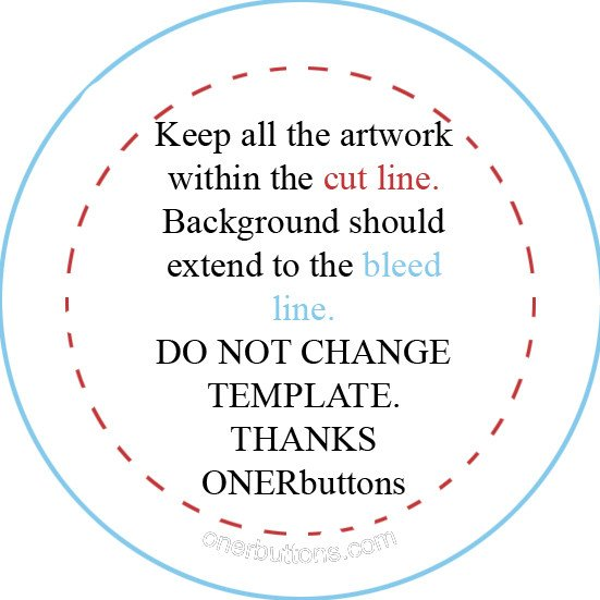 1 25 Inch button Template 1 5 Inch button Template to Pin On Pinterest