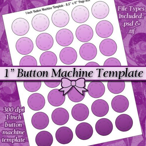 1 25 Inch button Template E Inch button Machine Digital Collage Sheet Template