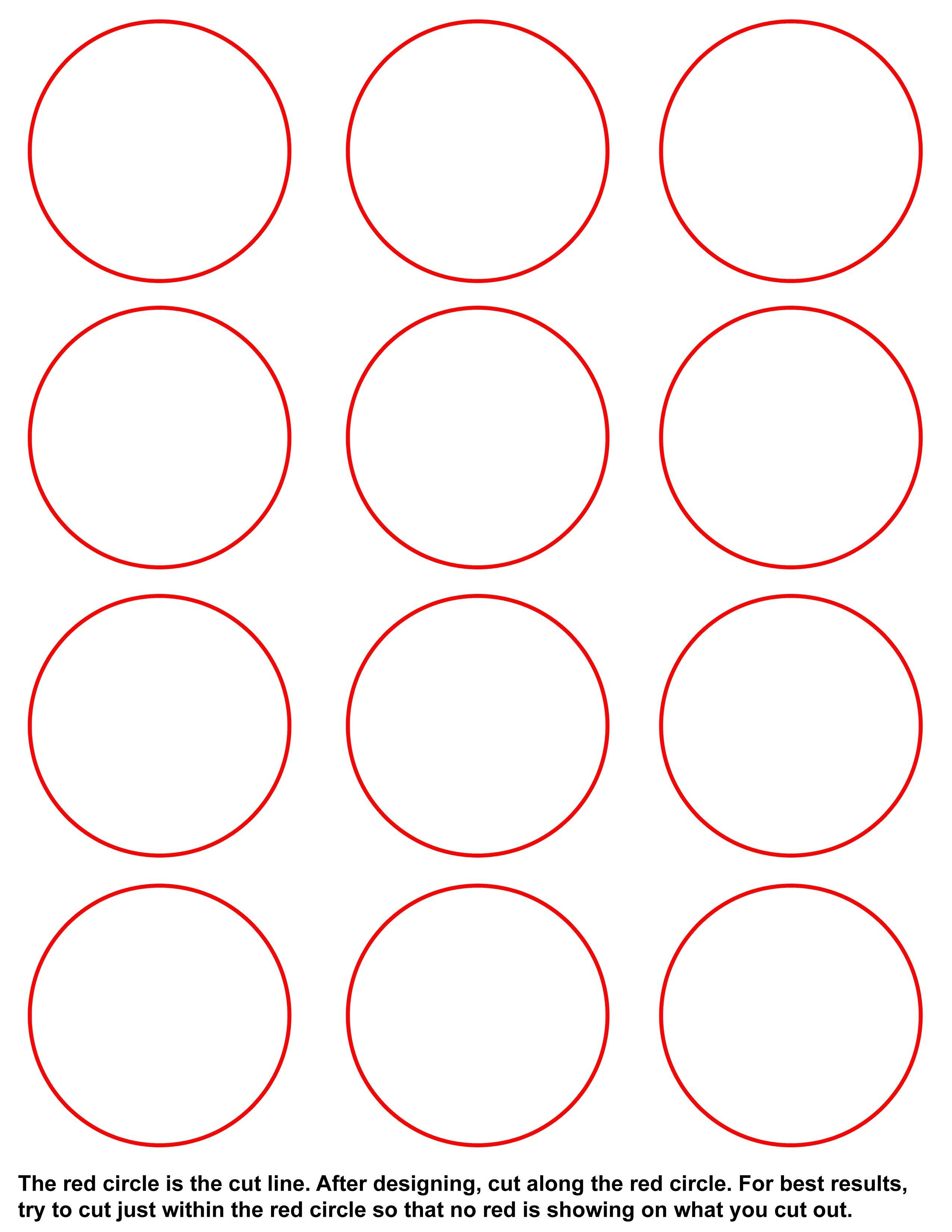 1 25 Inch button Template Templates – Umakebuttons
