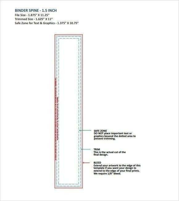 "1 5 Inch Binder Spine Template 2"" Binder Spine Inserts 4 Per Page – Fice Templates In"