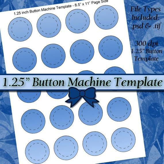 1 5 Inch button Template 1 25 Inch button Machine Template Diy Digital Collage Sheet