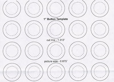 "1 5 Inch button Template Belletristic buttons 1"" button Template"