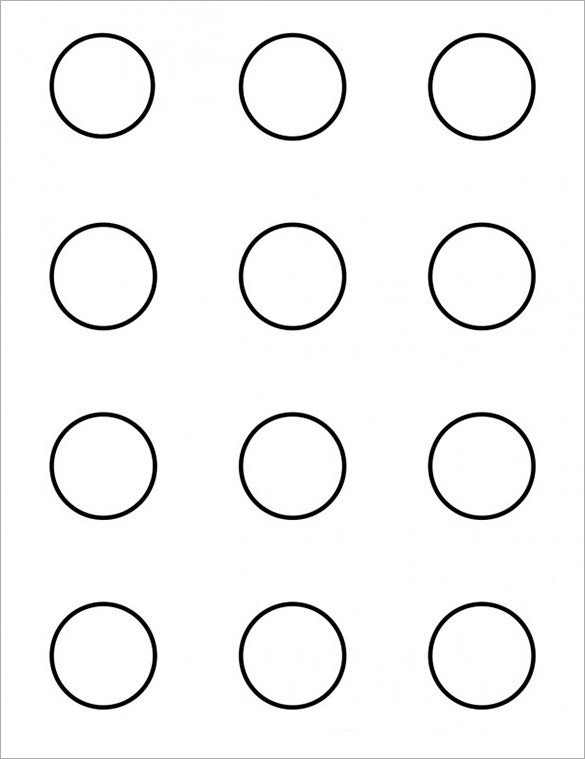1 5 Inch button Template Printable Small Circle Templates Printable Pages