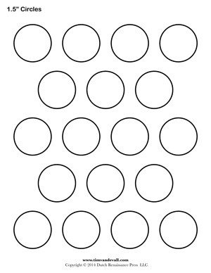 1 5 Inch button Template Tim Van De Vall Ics & Printables for Kids