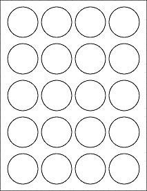 """1 Inch Circle Label Template 1 75"""" 1 3 4 Inch Round Labels Ol914 1 75"""" Circle"""