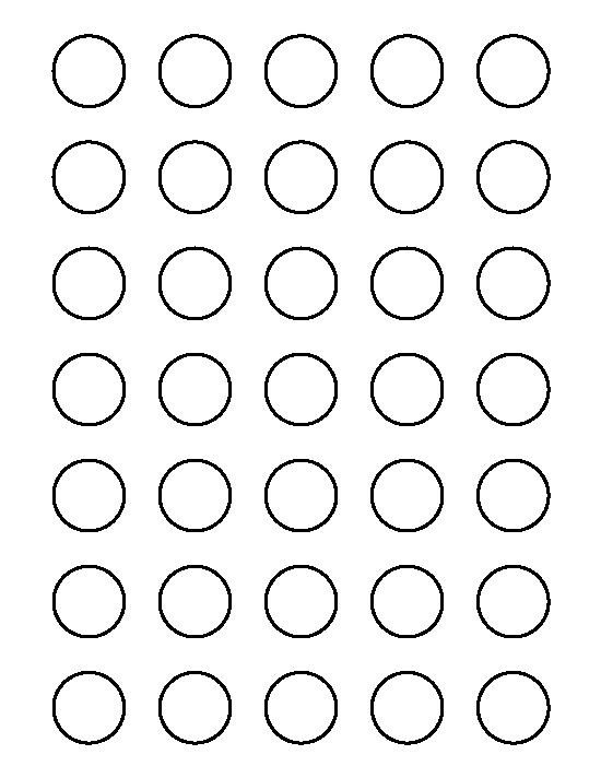 1 Inch Circle Label Template 1 Inch Circle Pattern Use the Printable Outline for