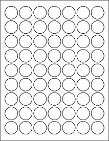 """1 Inch Circle Label Template 1"""" Circle Labels Ol1025"""