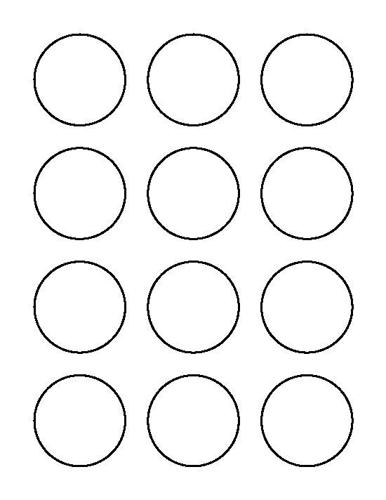 1 Inch Circle Label Template 2 Inch Circle Pattern Use the Printable Outline for