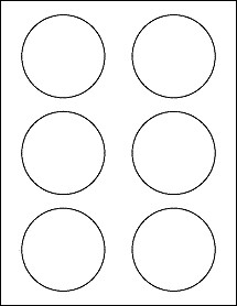 """1 Inch Circle Label Template 3 Inch Round Labels 3"""" Circle Stickers Ol2279 3"""" Circle"""