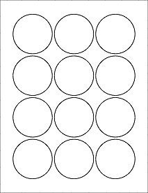 """1 Inch Circle Label Template Amazon 6 Sheets 72 2 1 4"""" Round Circle White"""