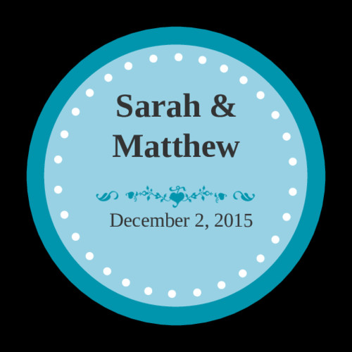 1 Inch Circle Label Template Colonial Azure Wedding Envelope Seal Label Label