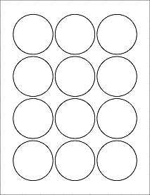 """1 Inch Circle Label Template Download Label Templates Ol8750 2 25"""" Circle Labels"""