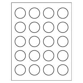 1 Inch Circle Label Template Free Avery Template for Microsoft Word Round Label 8293