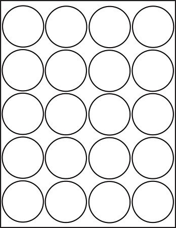 1 Inch Circle Label Template Glossy White Printable Sticker Labels 50 Sheets 2 Inch