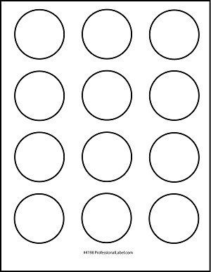 1 Inch Circle Label Template Matte White Printable Sticker Labels 250 Sheets 2 Inch