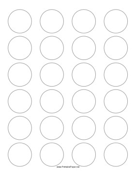 1 Inch Circle Label Template Printable Round Label 1 5 Inches Diameter