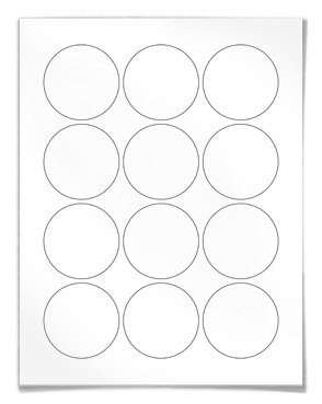 1 Inch Circle Label Template Round Labels Circular for Laser and Inkjet Printers