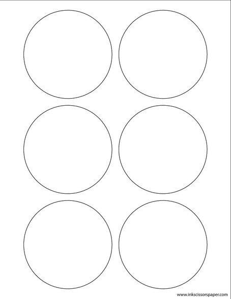 1 Inch Circle Label Template Template 3 1 4 Inch Round Labels Inkscissorspaper