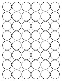 "1 Inch Circle Template 1 25"" Circle Labels Ol3012"