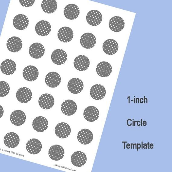 1 Inch Circle Template 1 Inch Circle Template Digital Download