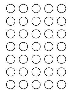 1 Inch Circle Template 1 Inch Circle Template Printable and Many Other Sizes