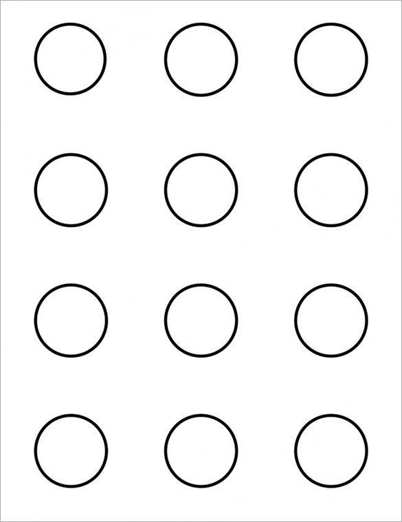 1 Inch Circle Template 9 Printable Macaron Templates – Free Word Pdf format