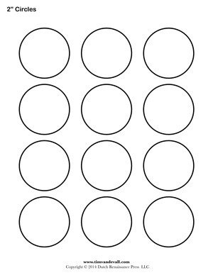 1 Inch Circle Template Circle Templates Blank Shape Templates