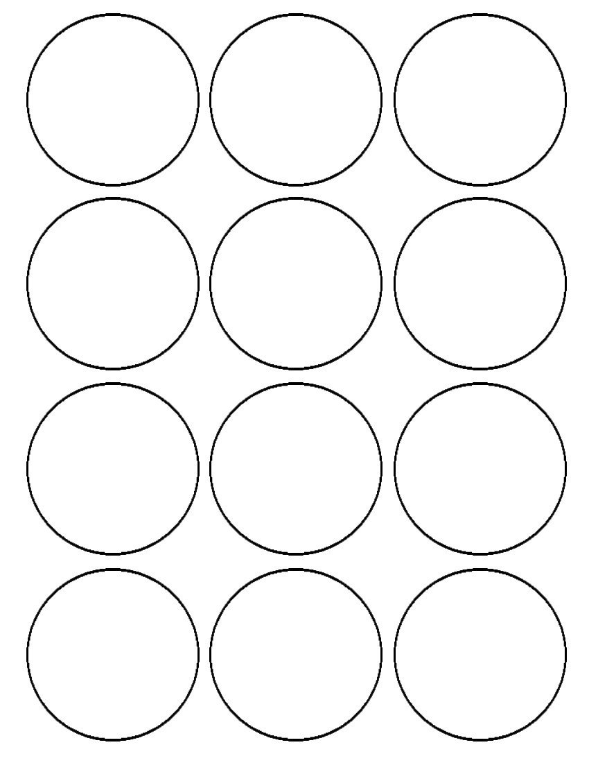 1 Inch Circle Template Flour Confections