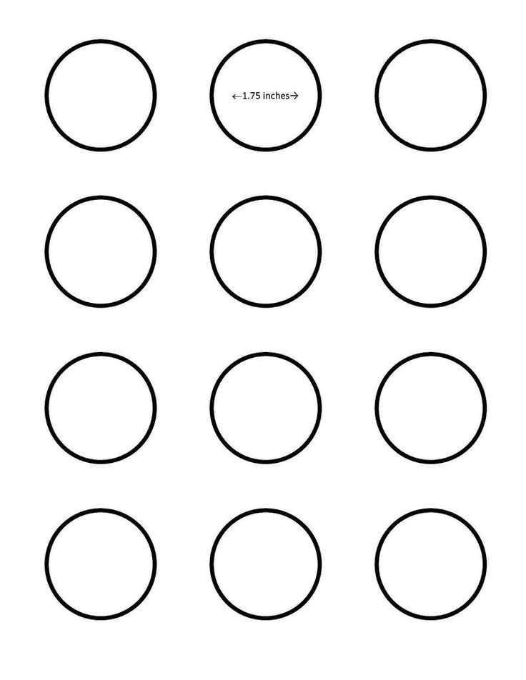 1 Inch Circle Template Macaron 1 75 Inch Circle Template Google Search I Saved