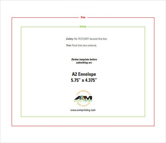10 Envelope Template Word 2 Sample A2 Envelope Template 7 Documents In Word Pdf