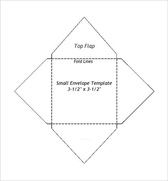 10 Envelope Template Word 2 Small Envelope Templates – 9 Free Printable Word Pdf