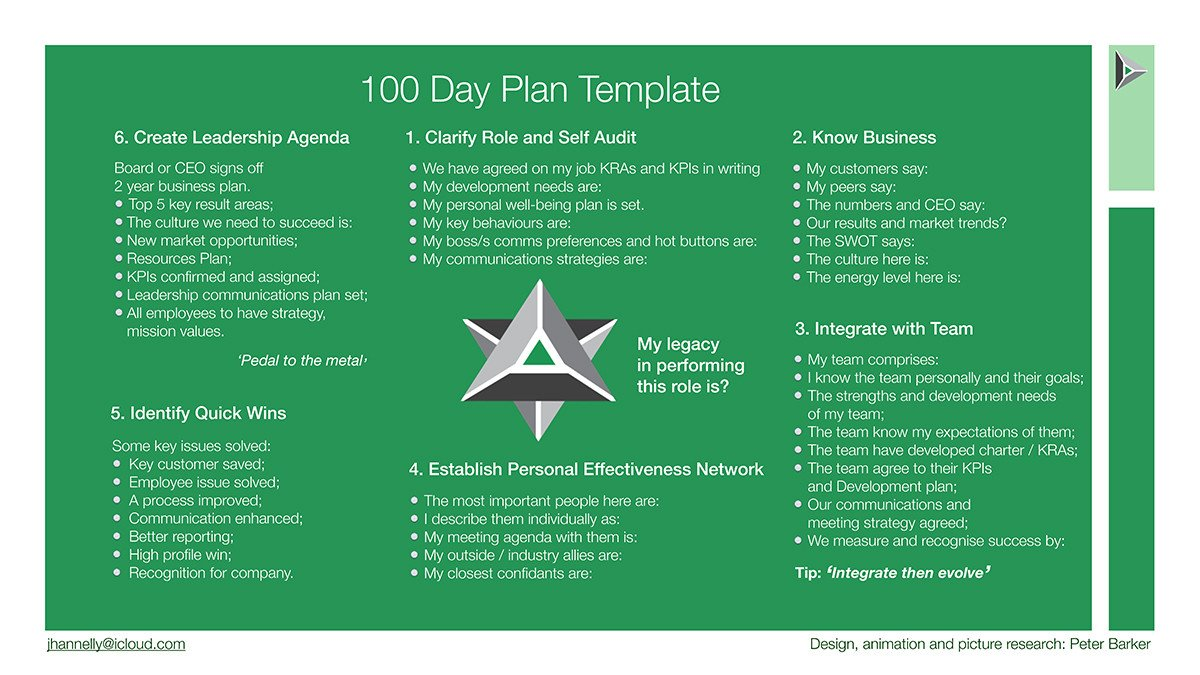 100 Day Plan Template First 100 Days