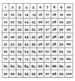 100 Square Raffle Board 25 Best Ideas About Hundreds Chart On Pinterest