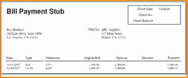 1099 Pay Stub Template Excel 10 Pay Stub Template for 1099 Employee