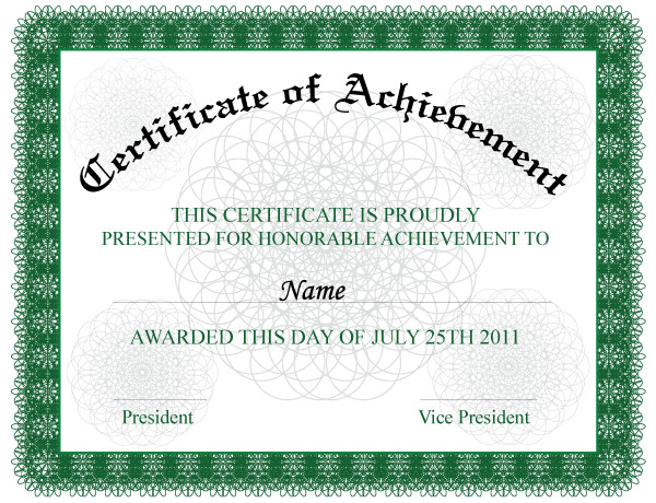 123 Awards Certificates Certificate Of Achievement by 123freevectors On Deviantart