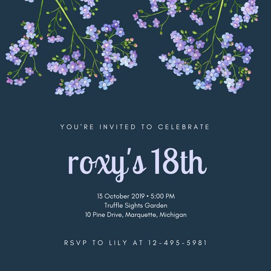 18th Birthday Invitation Templates 18th Birthday Invitation Templates Canva