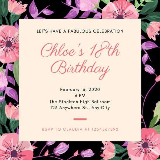 18th Birthday Invitation Templates Customize 333 18th Birthday Invitation Templates Online