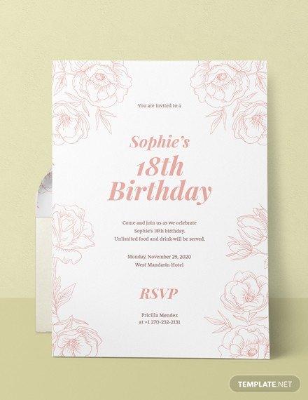 18th Birthday Invitation Templates Free 18th Birthday Invitation Template Download 508