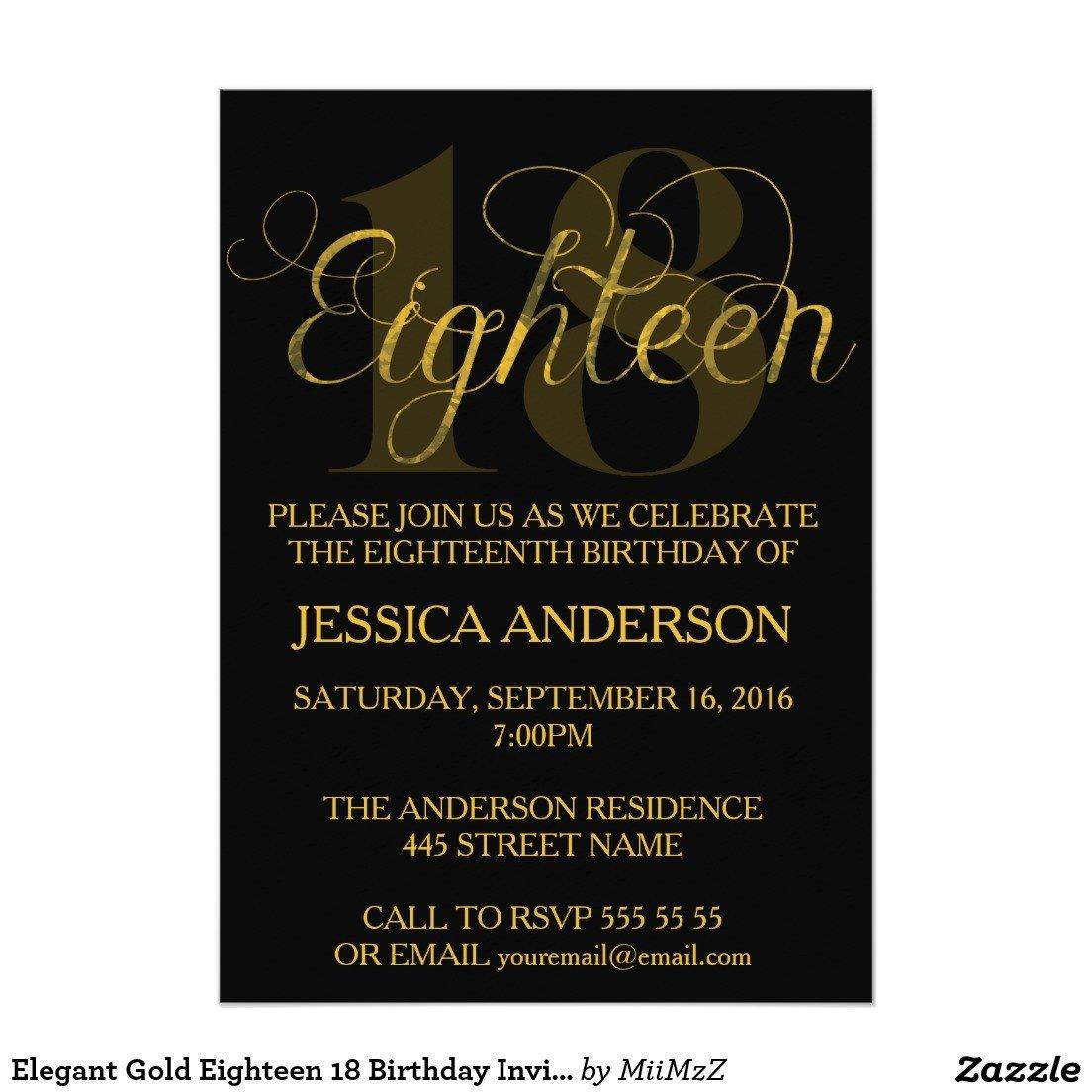 18th Birthday Invitation Templates Free 18th Birthday Invitations Wording – Free Printable