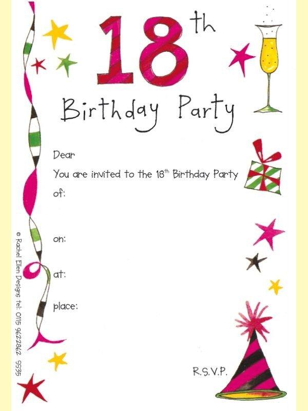 18th Birthday Invitation Templates Screenprintbiennial Invitation