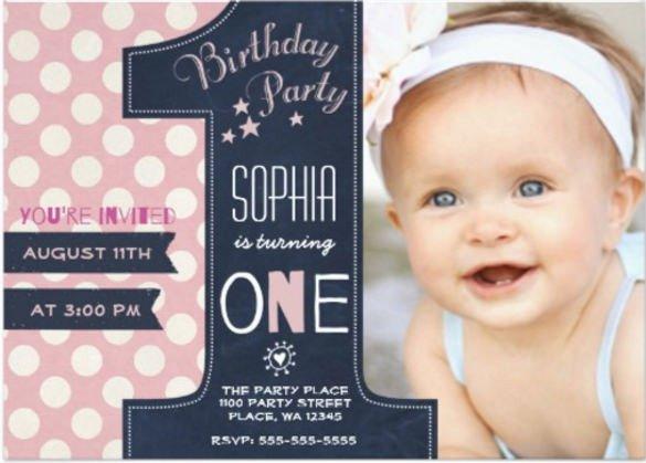 1st Birthday Invitation Template 36 First Birthday Invitations Psd Vector Eps Ai Word