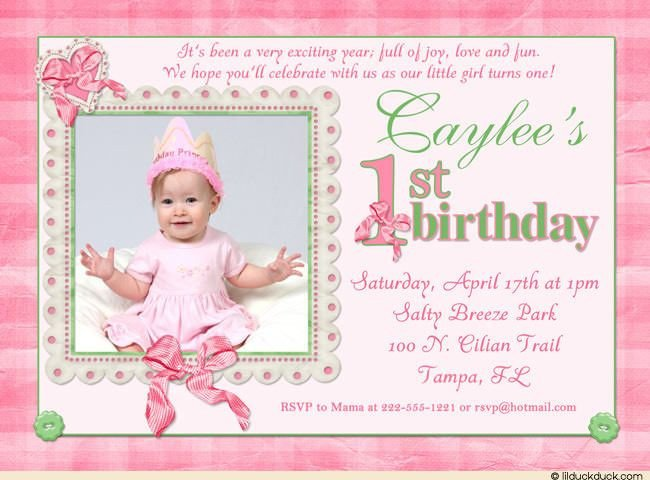 1st Birthday Invitation Template Cool 1st Birthday Invitation Wording