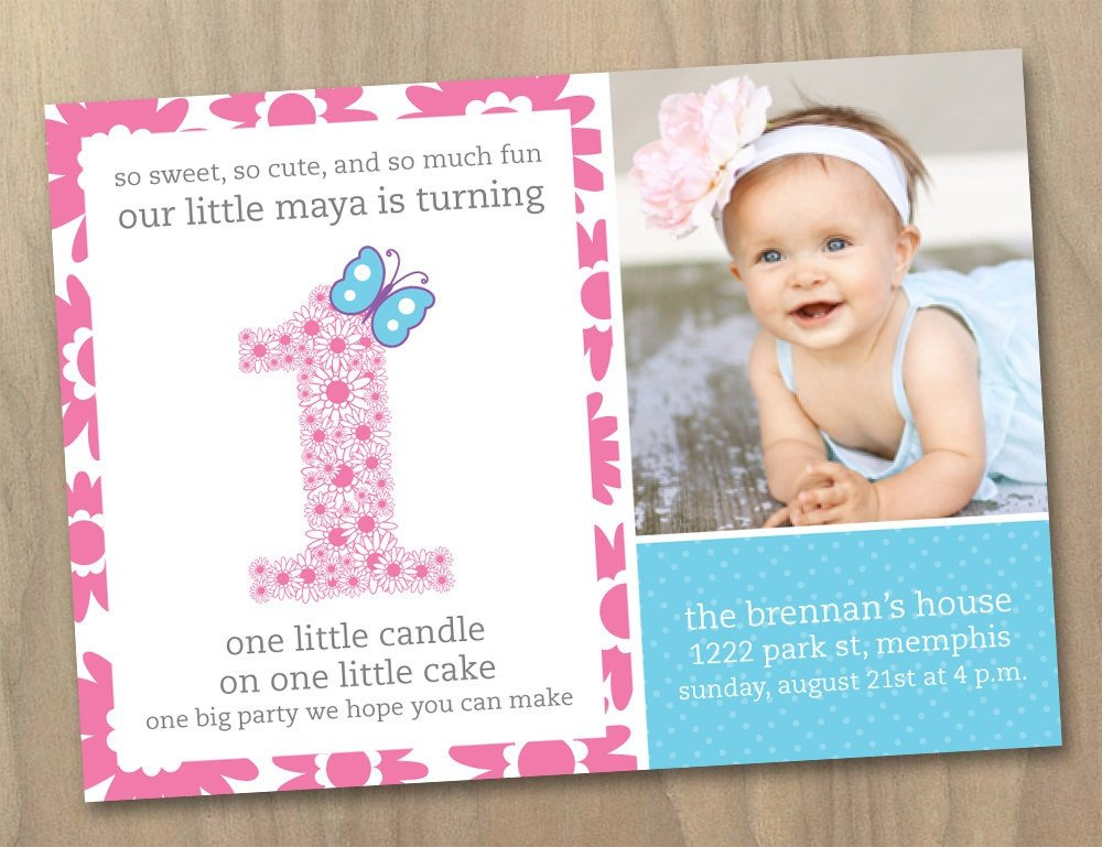 1st Birthday Invitation Template First Birthday Invitation Wording Ideas – Free Printable