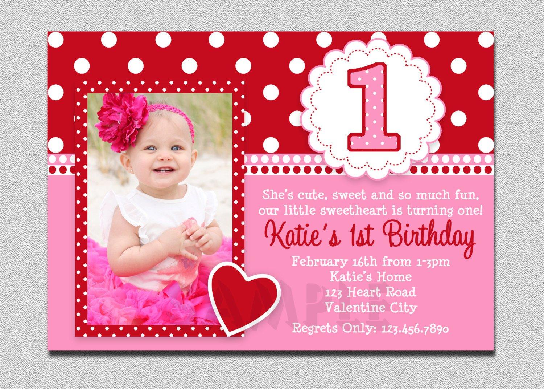 1st Birthday Invitation Template Free Printable 1st Birthday Invitations Girl – Free