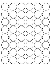 """2 Inch Round Label Template 1 2"""" Circle Labels Ol6000"""