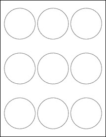 """2 Inch Round Label Template 2 5"""" Circle Labels Ol2683"""