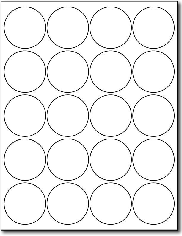 2 Inch Round Label Template 2 Inch Round Label Template
