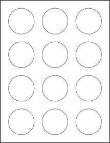 """2 Inch Round Label Template 2"""" Circle Labels Ol2682"""