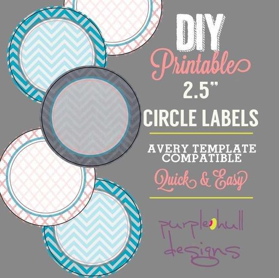 2 Inch Round Label Template Circle Label Sticker Avery Template 2 5 Inch Round Chevron